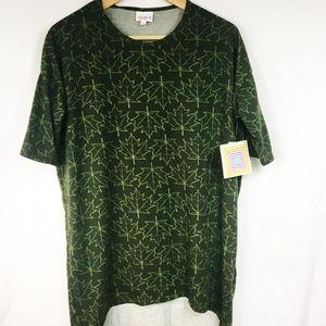 New Lularoe Dark Green Irma Short Sleeve T-Shirt